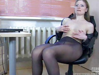 nylons masturbation into the workplace
