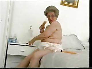 elderly elderly still loves to have fun. amateur