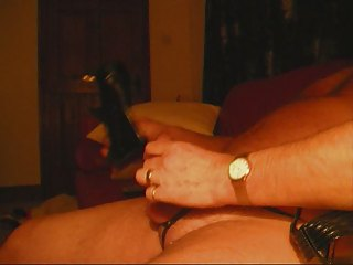 Masturbating in Leather Panties