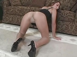 stretched legshigh shoes and stockings