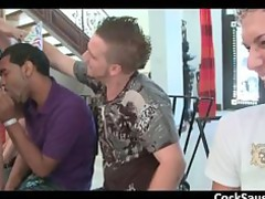 busty gay gang licking muscled stripper part1
