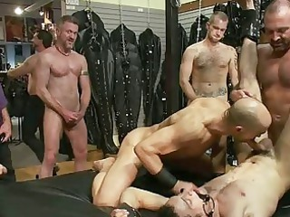 tattooed gay stud obtains tied and dominated by
