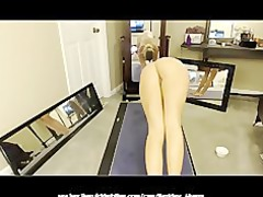 super amateur on webcam doing yoga